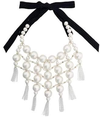 Moy Paris embellished tassel bib necklace
