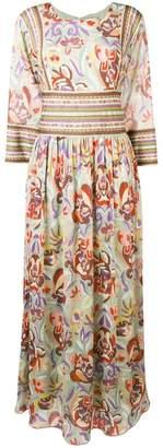 Etro floral print maxi dress