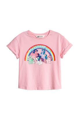 H&M T-shirt with Printed Design - Blue/My Little Pony - Kids