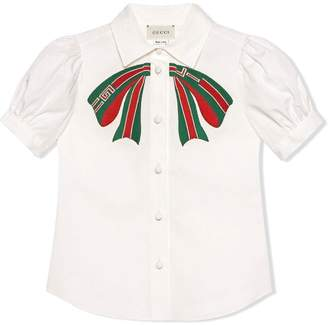 Gucci Kids Children's cotton shirt with bow