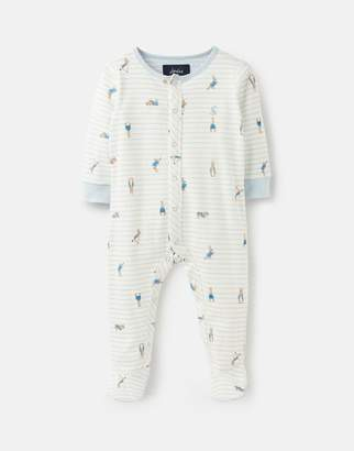 98194d36b3a4 Joules Cream Stripe Peter Rabbit Ziggy Printed Babygrow With Feet Size 6M-9M