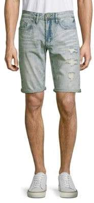 Buffalo David Bitton Evan Distressed Denim Shorts