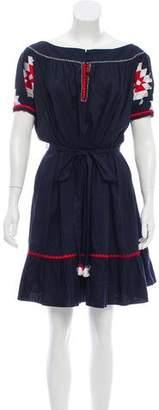 Tory Burch Embroidered Mini Dress w/ Tags