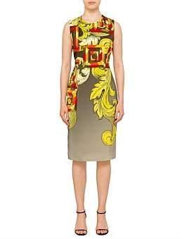 Versace Sl Midi Dress Greek Print