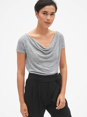 Gap Softspun Short Sleeve Cowl-Neck Top
