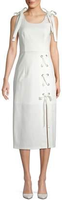 Avantlook Lace-Up Midi Dress