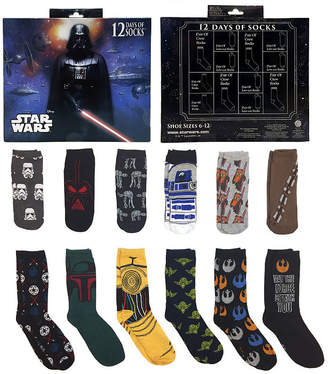 Star Wars 12 Days of Socks Gift Box Crew Socks-Mens