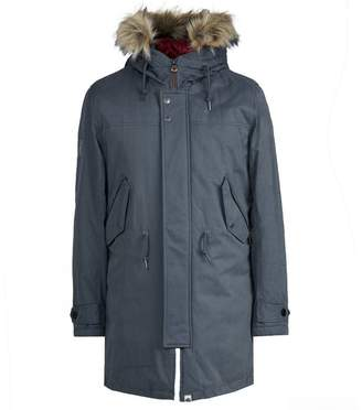 Pretty Green Hooded Parka With Padded Lining