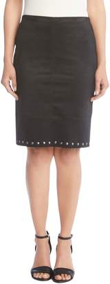 Karen Kane Studded Faux Suede Skirt
