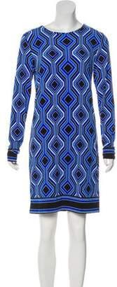 Michael Kors Pattern Long Sleeve Dress