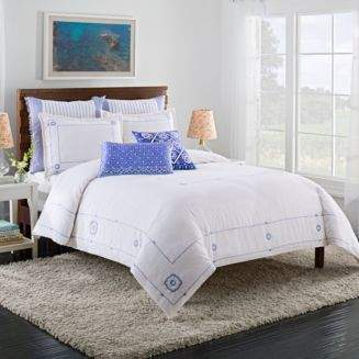 Cupcakes And Cashmere Blue Frame Duvet Cover, King