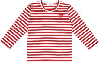 Comme Des Gar?ons Play Kids Striped cotton jersey T-shirt