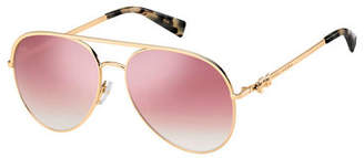 Marc Jacobs Daisy 2S Mirrored Aviator Sunglasses