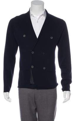 Lanvin Double-Breasted Notch-Lapel Cardigan.