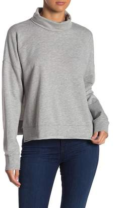 Three Dots Cowl Neck Brushed Fleece Pullover