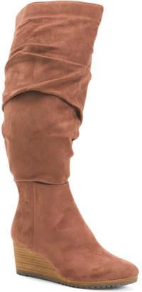 Wide Calf Comfort Knee High Boots