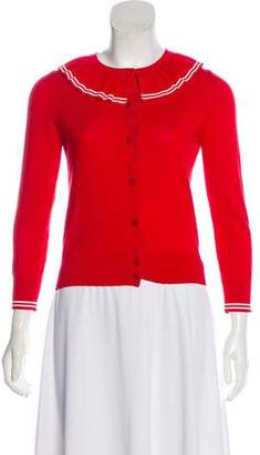 Marc Jacobs Ruffle-Trimmed Lightweight Cardigan