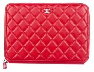 Chanel Quilted Travel Case