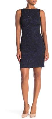 Donna Ricco Floral Embossed Sheath Dress