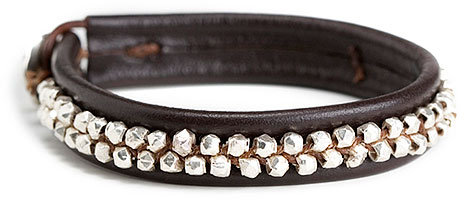 Chan Luu Double Studded Leather Bracelet