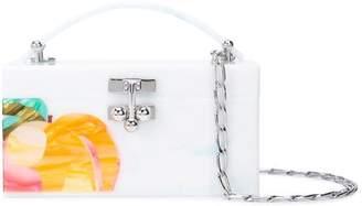 Edie Parker fruit clutch bag