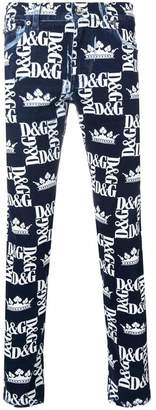 Dolce & Gabbana all-over logo print jeans