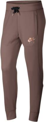 Nike Rose Gold Metallic Air Cuffed Track Pants - Women's