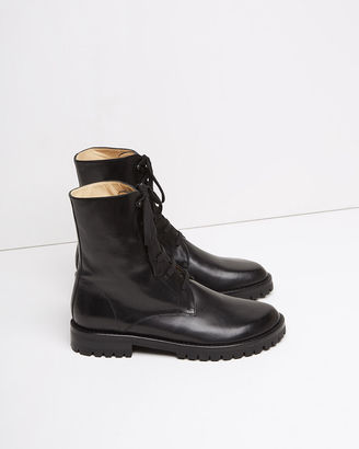 Ann Demeulemeester Lace Up Ankle Boot $1,155 thestylecure.com