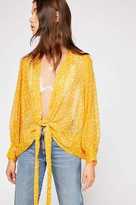 Star Dazed Tie Front Kimono