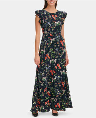 77a851c683fa Tommy Hilfiger Gala Floral Belted Maxi Dress