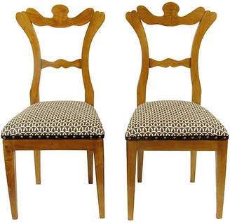 One Kings Lane Vintage Biedermeier Side Chairs - Set of 2 - The Barn at 17 Antiques
