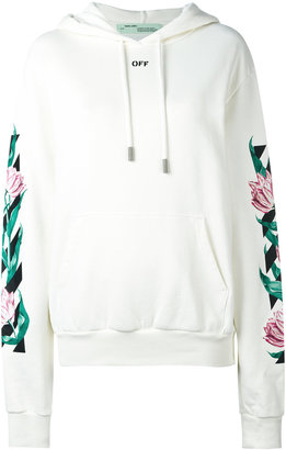 Off-White graphic tulip print hoodie $640 thestylecure.com