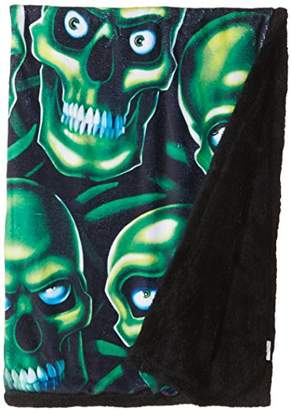 Liquid Blue Men's Fantasy Skull Pile Classic Coral Fleece Throw Blanket