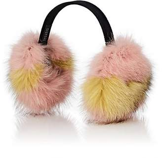 Barneys New York Women's Fox Fur Earmuffs - Pink