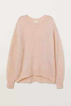 H&M Mohair-blend Sweater - Orange