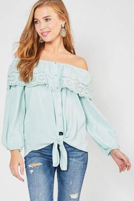 Entro Lace-Overlay Ots Top