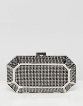 Asos Grid Box Clutch Bag
