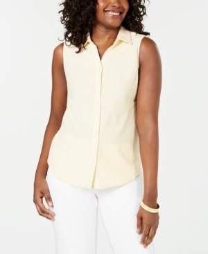 Charter Club Cotton Sleeveless Shirt, Created for Macy's