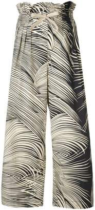 Dondup graphic print cropped trousers