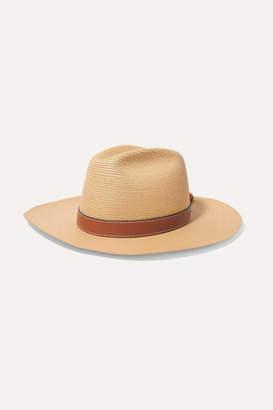 Loewe Paula's Ibiza Leather-trimmed Straw Hat - Beige