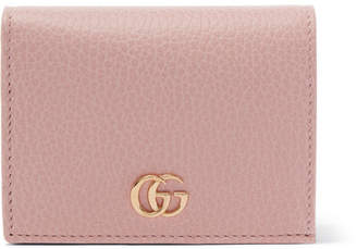 Gucci Marmont Petite Textured-leather Wallet - Pink