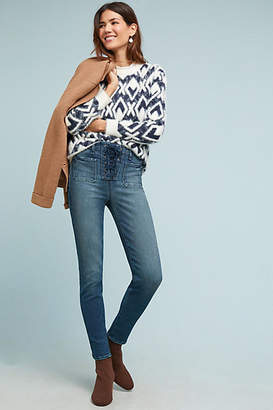 McGuire Isabeli Mid-Rise Lace-Up Skinny Jeans
