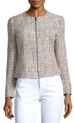 Textured Zip-Front Jacket $159 thestylecure.com