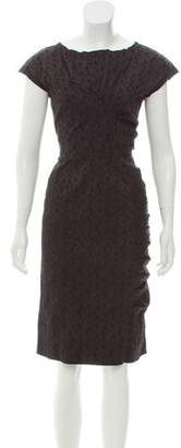 Nina Ricci Gathered Jacquard Dress
