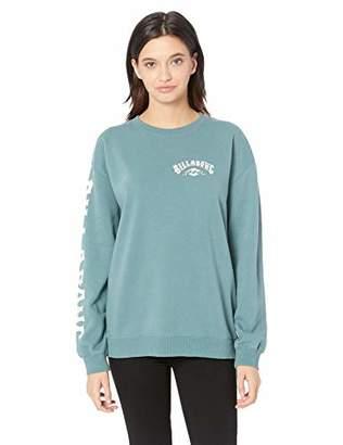 Billabong Women's White Wash Sweatshirt, S