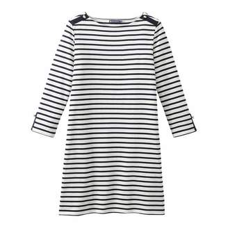 Cream/Navy Stripe Heavy Jersey Sailor Dress