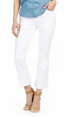 Women's Paige Colette High Waist Raw Hem Crop Flare Jeans $199 thestylecure.com