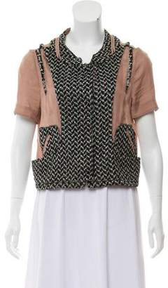 Marni Short Sleeve Patterned Top