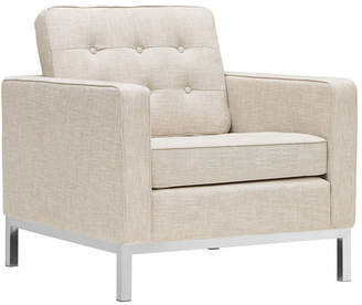 Modway Loft Upholstered Fabric Armchair