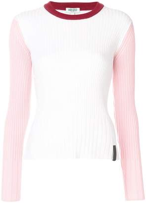 Kenzo Colour Block Ribbed sweater